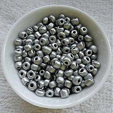 Korálky - Rokajl 4mm perleť-20g - 3879227_