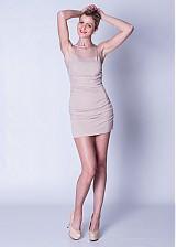 Šaty - Elastické nazbierané šaty s tylom SKLADOM - 3881164_