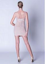 Šaty - Elastické nazbierané šaty s tylom SKLADOM - 3881165_