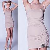 Šaty - Elastické nazbierané šaty s tylom SKLADOM - 3881166_
