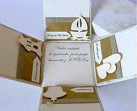 Darčeky pre svadobčanov - Krabička na peniaze pre novomanželov - 3878553_
