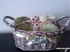 Dekorácie - A ďalšia sada zajačikov - tentokrát v zelenom - 3881686_