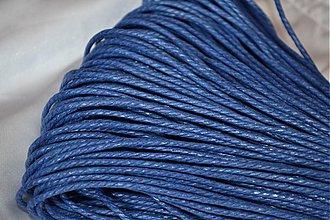 Galantéria - Šnúrka voskovaná krútená modrá, 2mm, 0.19€/meter - 3878684_