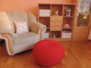 Úžitkový textil - Puf BUDDY červený - 3881249_