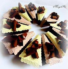 Papiernictvo - Tortička s čokoládovými hoblinkami... - 3884540_
