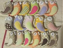 Dekorácie - Veselé vtáčiky malé - 3885849_