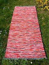 Úžitkový textil - Koberec červený melírovaný 150x73cm - 3885816_