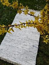 Úžitkový textil - Bielo sivý melír 180x74cm - 3885832_