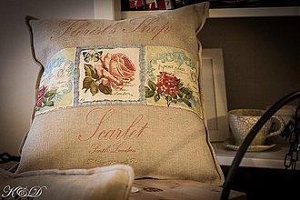 """Úžitkový textil - Vankúšik """"Scarlet"""" - 3888426_"""