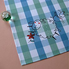 Úžitkový textil - Přes KVĚTINKU SKOK - napron 70x70 cm - 3887298_