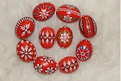 Dekorácie - Kraslice červené - 3888259_