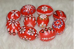 Dekorácie - Kraslice červené - 3888260_