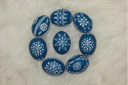 Dekorácie - Kraslice modré tmavé - 3888224_