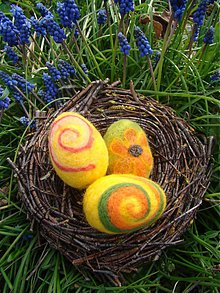 Dekorácie - Plstené vajíčka - 3890581_