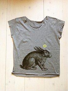 Tričká - Tee rabbit woman - 3893226_