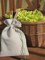 Úžitkový textil - Ľanové vrecúško na bylinky, hríby - 3891199_