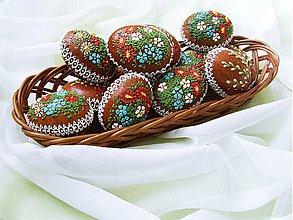 Dekorácie - 3D veľkonočné medovníkové vajíčko - 3896859_