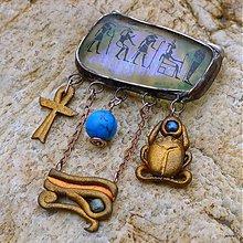 Odznaky/Brošne - Egyptská brošňa - 3896761_