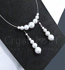 Sady šperkov - Perlová súprava biela - 3895157_