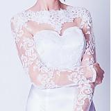 Šaty - Svadobné šaty s dlhým tylovým rukávom - 3894790_