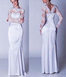 Šaty - Svadobné šaty s dlhým tylovým rukávom - 3894789_