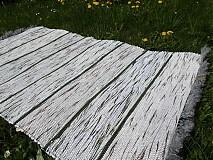 Úžitkový textil - Tenký zelený pásik 140x75cm - 3896201_