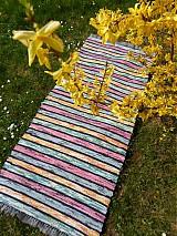 Úžitkový textil - Koberec zeleno žlto ružový150x73cm - 3896270_