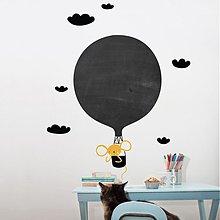 Dekorácie - Tabule - Myška v balóne - 3902347_