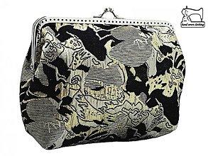 Kabelky - zľava kabelka brokátová spoločenská do ruky , dámská kabelka  0321 - 3907050_
