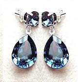 Náušnice - crystal montana - 3905765_