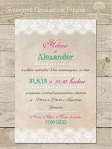 Papiernictvo - Svadobné oznámenie Pierre - 3903407_