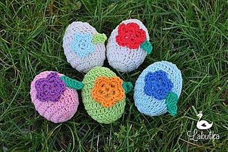 Dekorácie - Sada Veľkonočných vajíčok s aplikáciou - 3902868_