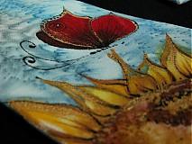 Doplnky - Hodvábna kravata Červený motýľ - 3906146_