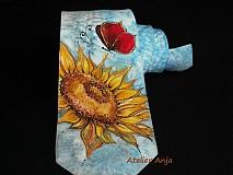 Doplnky - Hodvábna kravata Červený motýľ - 3906148_