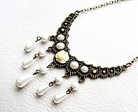 Náhrdelníky - perlový dážď - 3909809_