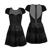 Šaty - Koktejlové šaty s tylom a krajkou na kovový zips - 3910478_