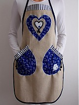 Iné oblečenie - Zástera s modrotlačou+chňapka  - 3908871_