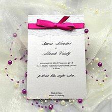 Papiernictvo - Elegantné svadobné oznámenie - 3909663_