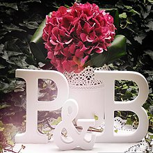 Tabuľky - Svadobné písmená - 3909766_