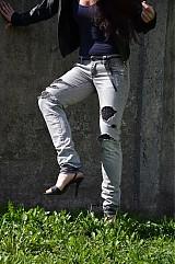 Nohavice - Nohavičky rifličky sivé - 3913088_