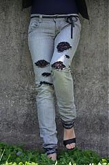 Nohavice - Nohavičky rifličky sivé - 3913091_