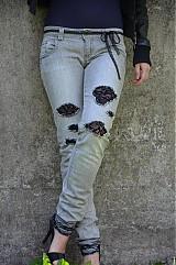 Nohavice - Nohavičky rifličky sivé - 3913094_