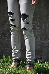 Nohavice - Nohavičky rifličky sivé - 3913098_