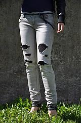 Nohavice - Nohavičky rifličky sivé - 3913104_