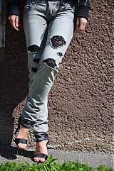 Nohavice - Nohavičky rifličky sivé - 3913105_