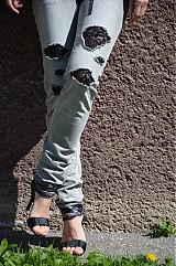 Nohavice - Nohavičky rifličky sivé - 3913107_