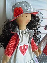Bábiky - Sivočervený párik - 3911557_