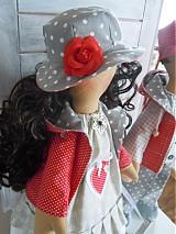 Bábiky - Sivočervený párik - 3911560_