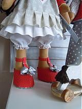 Bábiky - Sivočervený párik - 3911561_