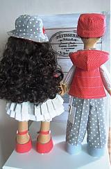 Bábiky - Sivočervený párik - 3911566_
